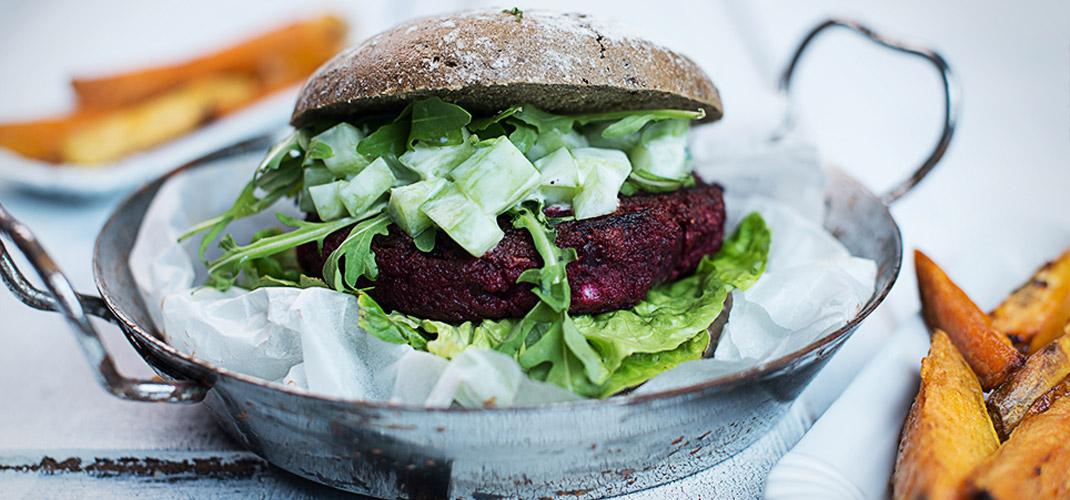 Rezept für gesunden Rote-Bete-Burger