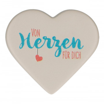 FeinbetonMagnet-Herz - Von Herzen für dich (1 Stück)