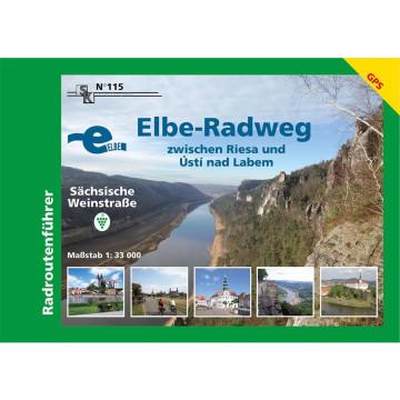 Elbe-Radweg zwischen Riesa und Ustí nad Labem - Sächsische Weinstraße 1 : 33 000