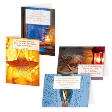 4er-Set Klappkarten »Ein gesegnetes Christfest«