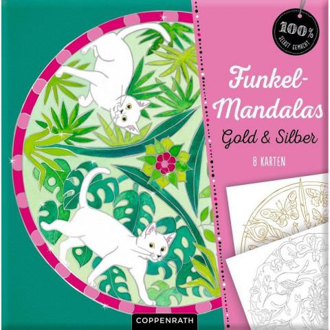 Funkel-Mandalas Gold & Silber