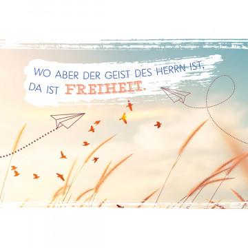 Glückwunschkarte zur Firmung - Wo aber der Geist des Herrn ist... (6 Stück)