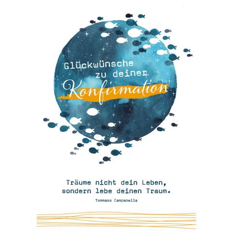 Glückwunschkarte - Glückwünsche zu deiner Konfirmation (6 Stück)