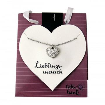 Halskette mit Herz »Lieblingsmensch«
