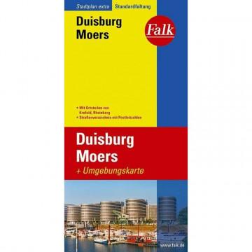 Falk Stadtplan Extra Standardfaltung Duisburg 1:20000