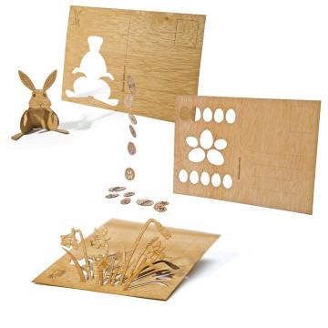 3er-Set Holzpostkarten »Ostern«