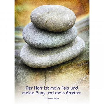 Postkarte Der Herr ist mein Fels (10 Stück)
