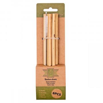Bambus-Strohhalme