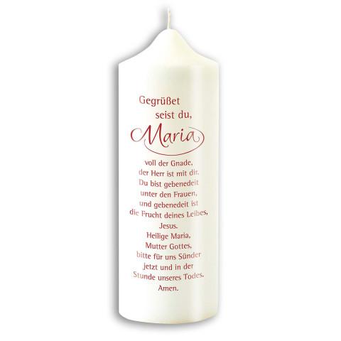 Kerze »Gegrüßet seist du, Maria«