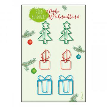 Büroklammern »Frohe Weihnachten«