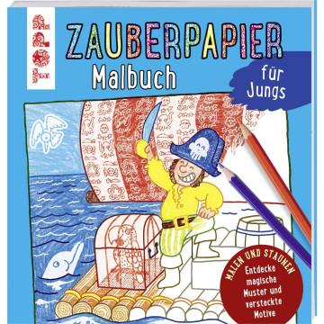 Zauberpapier Malbuch für Jungs