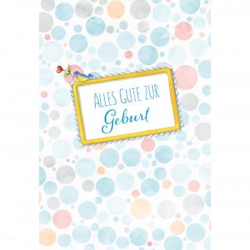 Glückwunschkarte Alles Gute zur Geburt (6 Stück)