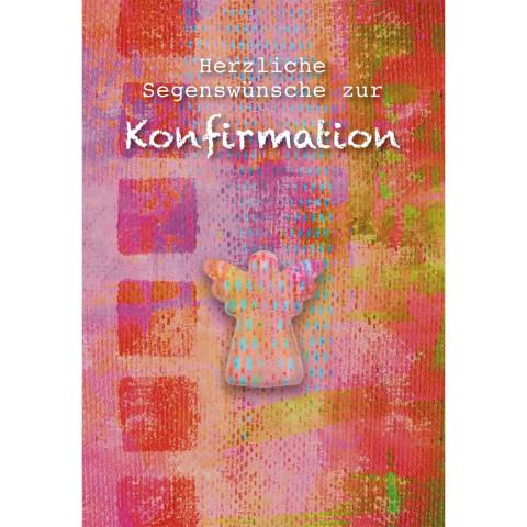 Glückwunschkarte Herzliche Segenswünsche zur Konfirmation (5 Stück)