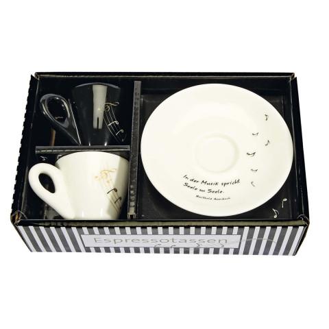 2er Set Espressotassen In der Musik spricht Seele zu Seele