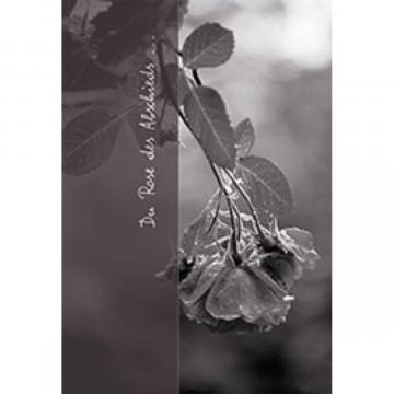Trauerkarte Du Rose des Abschieds ... (6 Stück)