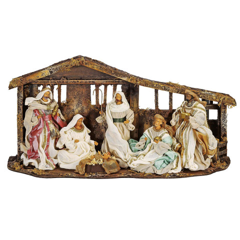 Krippe »Gesegnete Weihnachten«