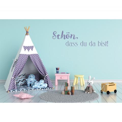 Glückwunschkarte zur Geburt - Schön, dass du da bist! (6 Stück)