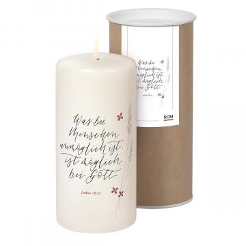 Kerze »blühende Worte«
