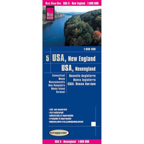 World Mapping Project USA 05 Neuengland 1 : 600 000