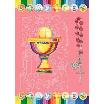 Doppelkarte Zur heiligen Kommunion (5 Stück)