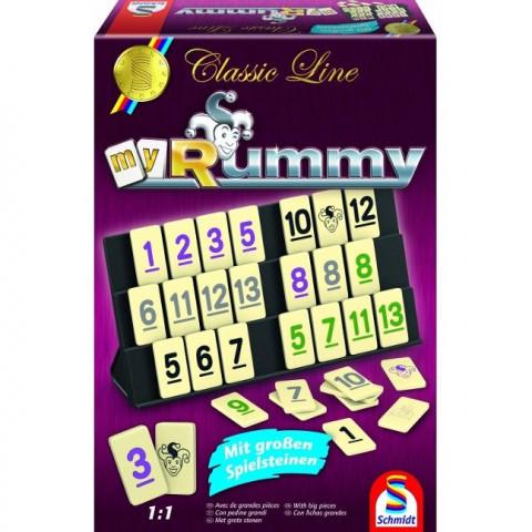 Classic Line, MyRummy, mit großen Spielfiguren, Überarbeitung