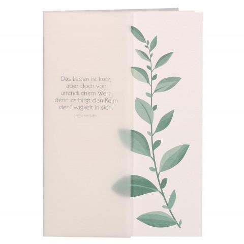Trauerkarte Das Leben ist kurz... (6 Stück)