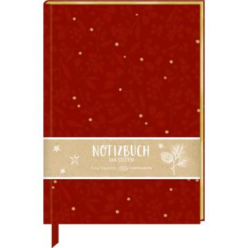 Samt-Notizbuch »Beeren & Blätter«