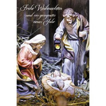 Glückwunschkarte zu Weihnachten Frohe Weihnachten und ein gesegnetes neues Jahr (6 Stück)