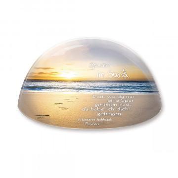 Glasdeko »Spuren im Sand«