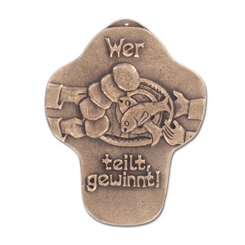 Kommunionkreuz aus Bronze (1 Stück)