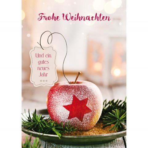 Glückwunschkarte - Frohe Weihnachten und ein gutes neues Jahr (6 Stück)