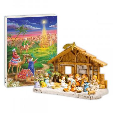 2er-Set Adventskalender »Geburt Christi«