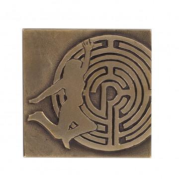 Bronzeplakette zur Konfirmation: Labyrinth (1 Stück)
