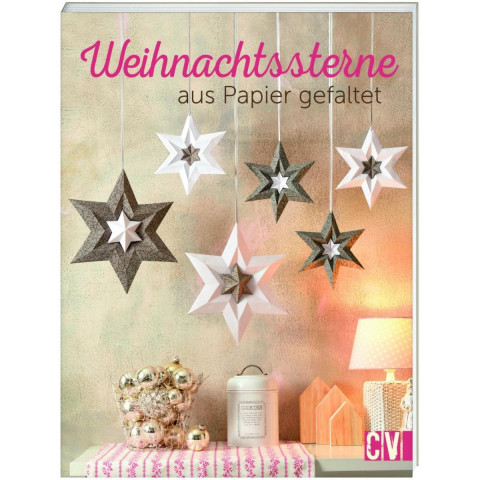 Weihnachtssterne aus Papier gefaltet