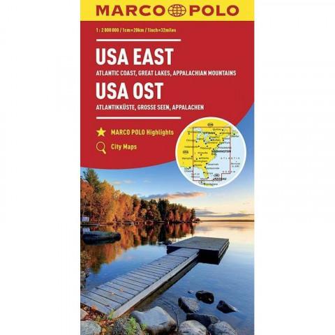 MARCO POLO Kontinentalkarte USA Ost 1:2 000 000