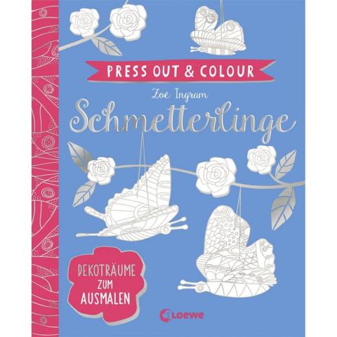 Press Out & Colour - Schmetterlinge