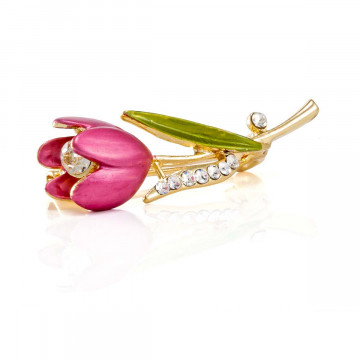 Brosche »Tulpe«