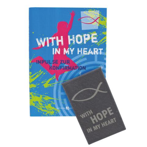 Geschenkset zur Konfirmation: With hope in my heart
