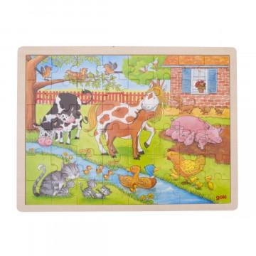 Einlegepuzzle »Leben auf dem Bauernhof«