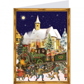 """Postkarten-Adventskalender """"Zug"""""""