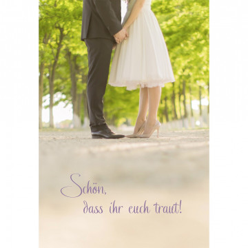 Glückwunschkarte zur Hochzeit Schön, dass ihr euch traut! (6 Stück)