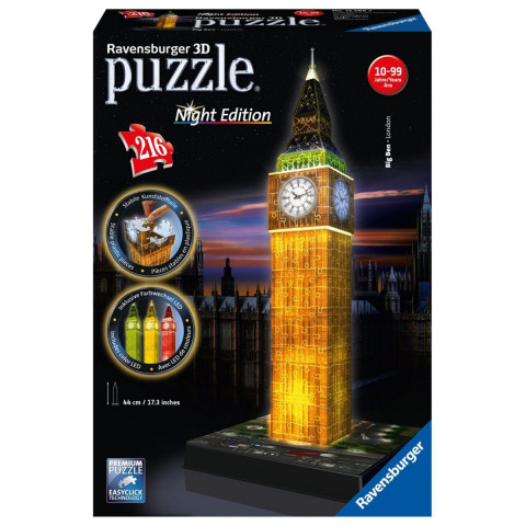Big Ben bei Nacht 3D-Puzzle 216 Teile
