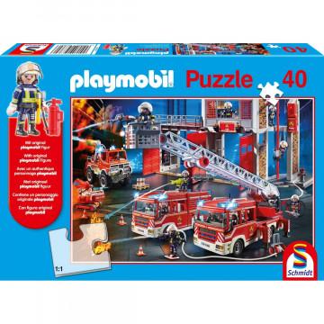 Feuerwehr, 40 Teile, mit Add-on (Original Figur)