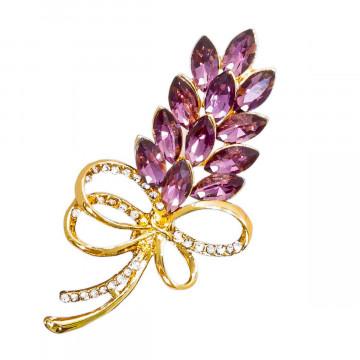 Brosche »Lavendelstrauß«