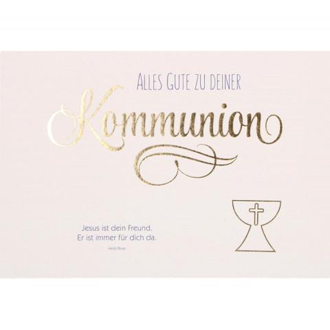 Glückwunschkarte Alles Gute zu deiner Kommunion (6 Stück)