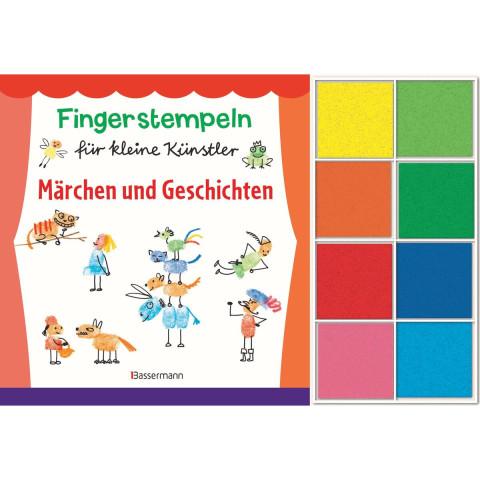 Fingerstempeln für kleine Künstler-Set. Märchen und Geschichten selber stempeln und erzählen.