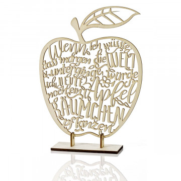 Holzdeko »Apfel«