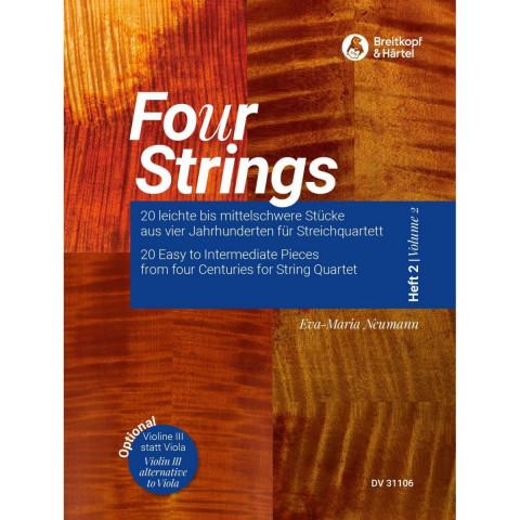 Fo(u)r Strings, Heft 2 -20 leichte bis mittelschwere Stücke aus vier Jahrhunderten für Streichquarte