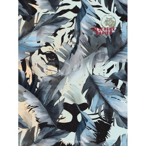 Save the Tiger Geschenkpapier-Heft Motiv Tiger im Dschungel