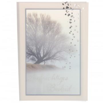 Trauerkarte mit Transparentumleger Aufrichtiges Beileid (6 Stück)